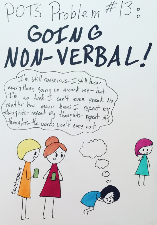 Comic describing going non-verbal