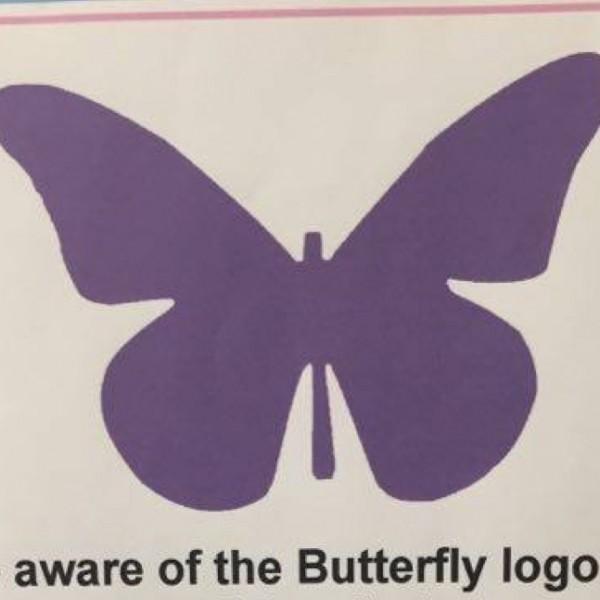 Purple Butterfly Flier