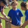 Abby in the sack race.