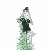girl hiding behind a bush
