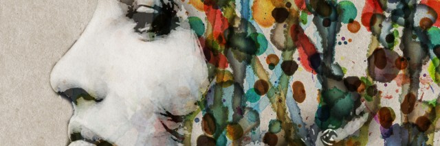 The grange watercolor female profile