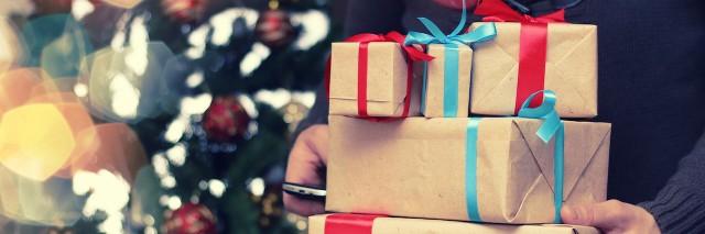 gift stack hand christmas