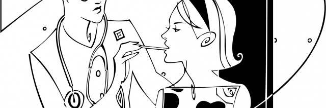 Teenage girl getting a back-to-school checkup