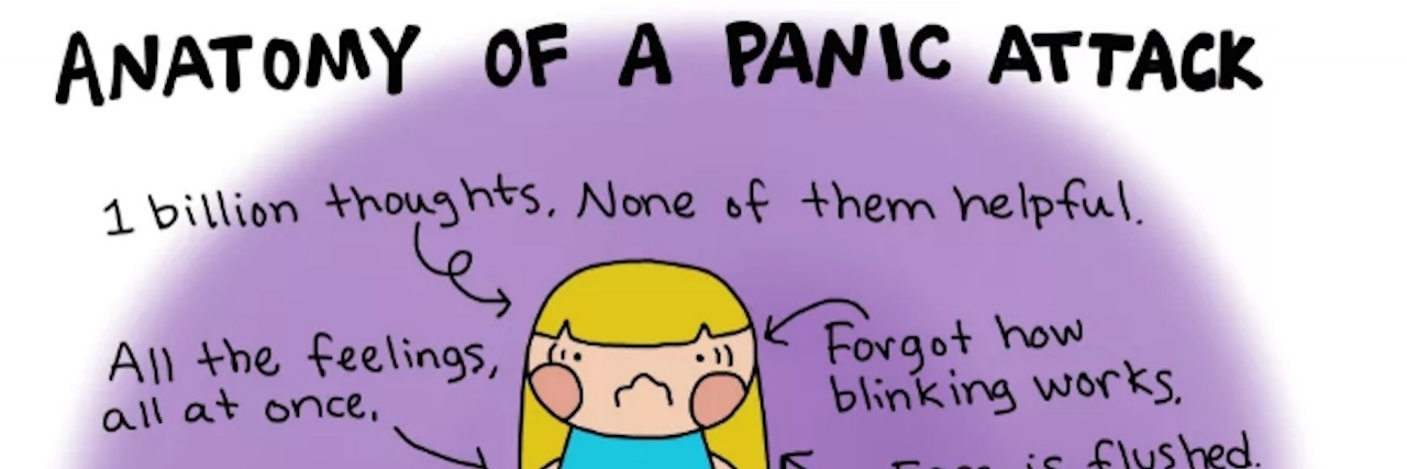 Chart of a girl having a panic attack