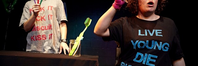 actors performing in biscuitland