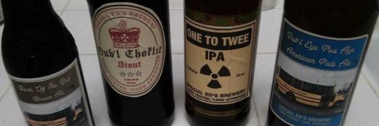 Beer bottles from Special Ed's Brewery