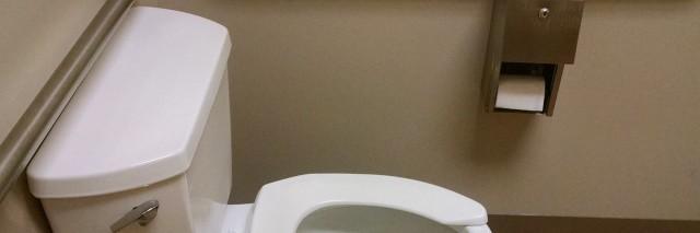 wheelchair accessible public restroom