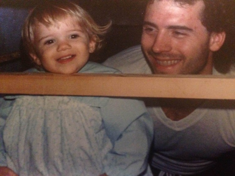 madelyn as a child with her father