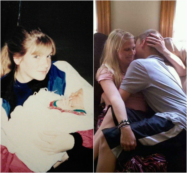 mother and son young and now