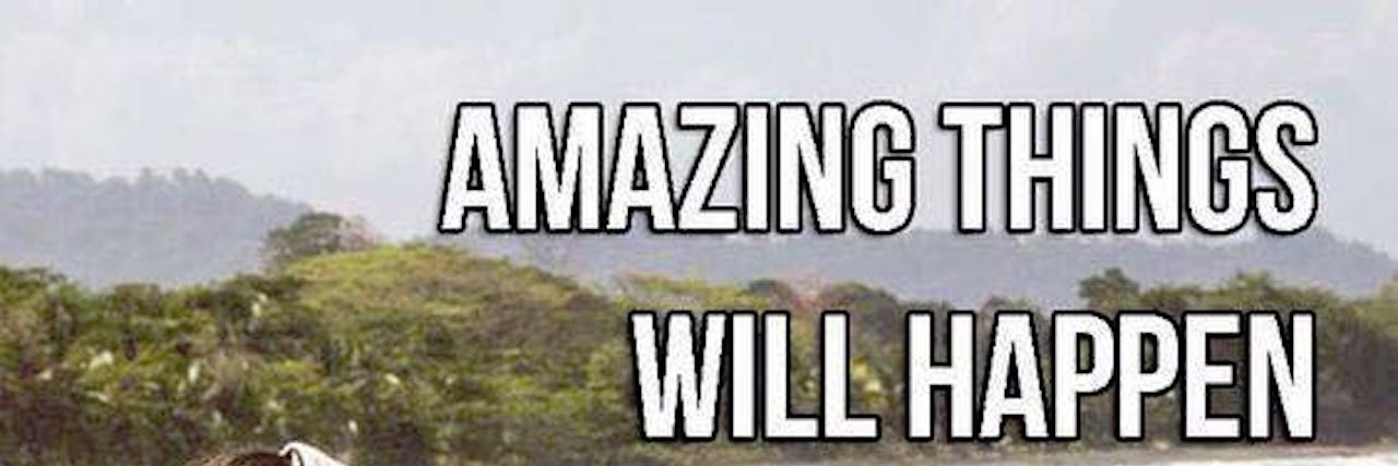 meme that says 'amazing things will happen today if you choose not to be a miserable cow'