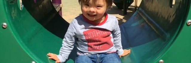 Owen on the playground.