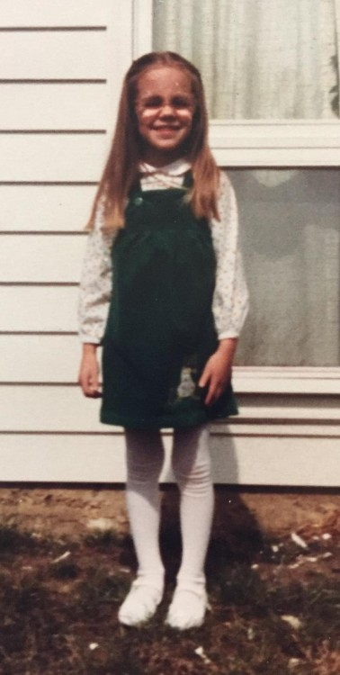 Erin as a child.