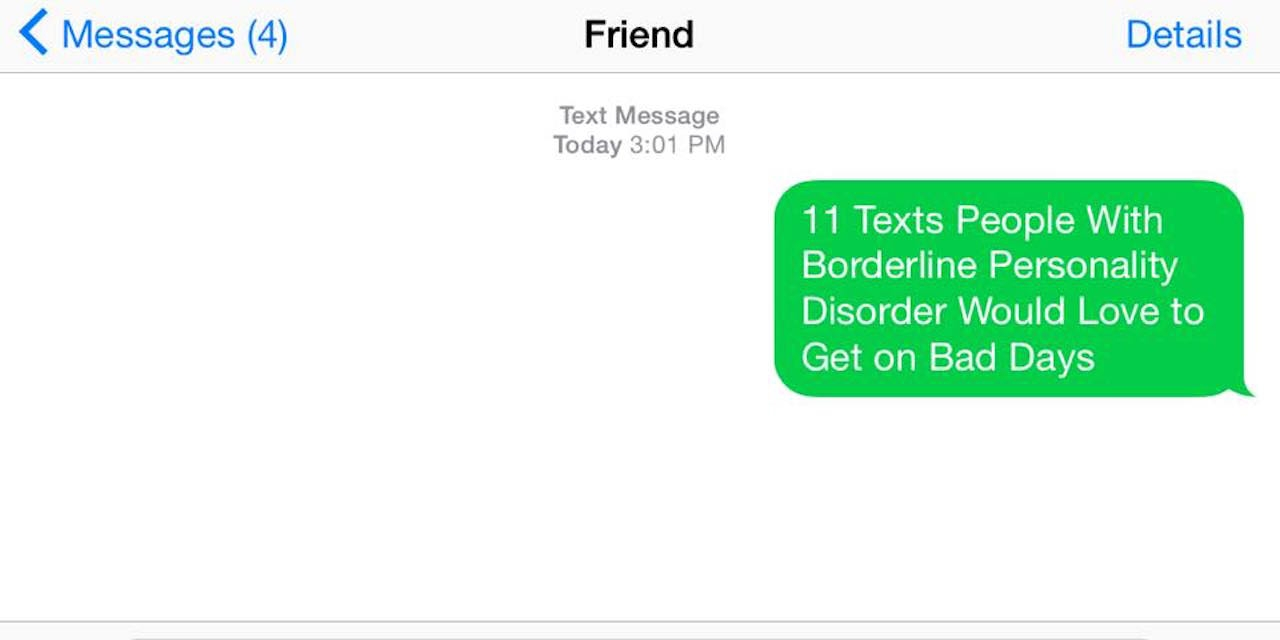 Texts to Send Friends With Borderline Personality Disorder | The Mighty