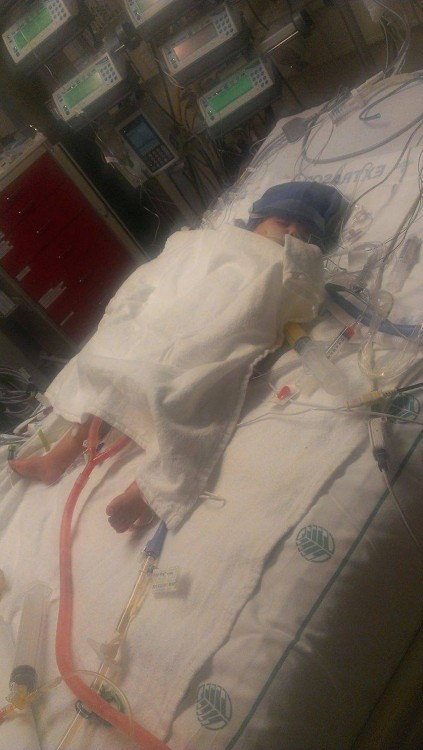 Ariel May in the ICU