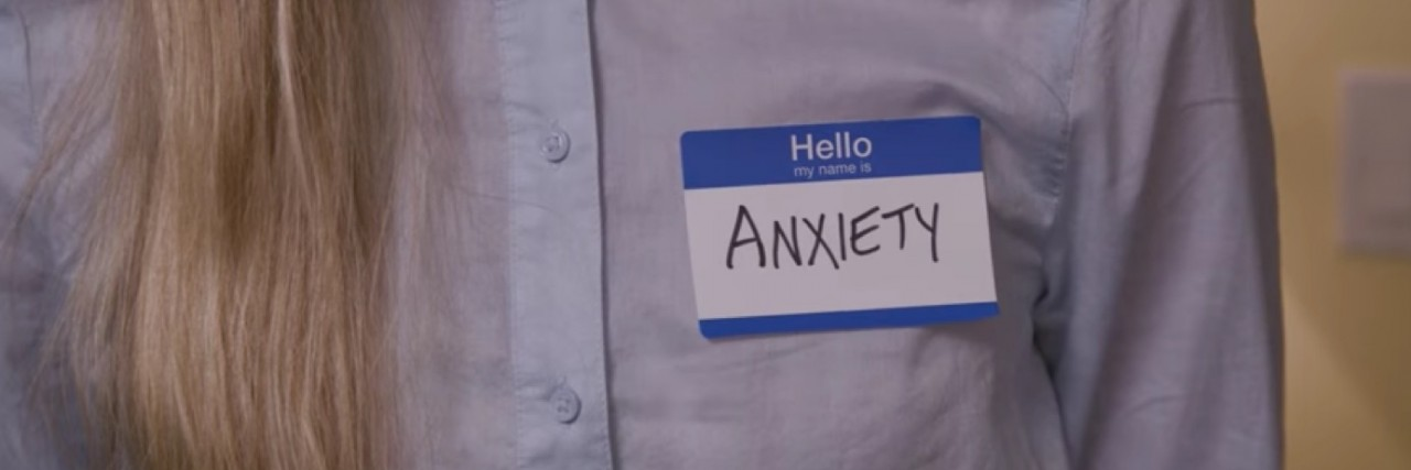 Anxiety Name Tag
