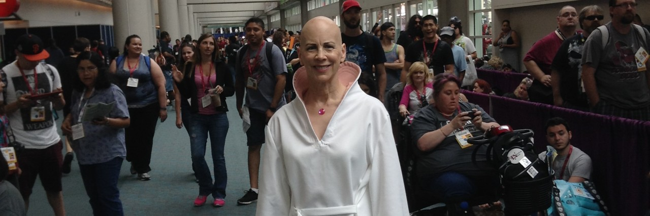 Being a bald sci-fi goddess at Comic-Con.