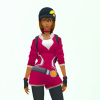 black woman avatar in Pokemon Go