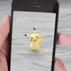 Someone playing Pokemon Go, who found Pikachu