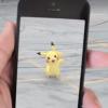 Someone playing Pokemon Go, who found Pikachu