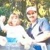 and old picture of the author and her father