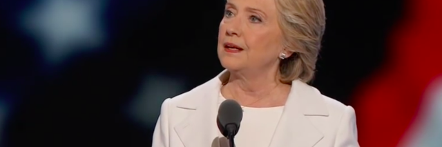 hillary clinton at the democratic national convention