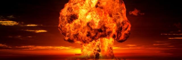 A bomb explodes.