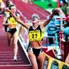 Suzy Favor-Hamilton running a race