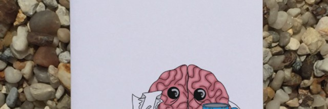 """Card that says """"Sorry to hear your brain is sick."""""""