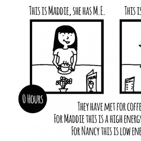 first part of comic explaining maddie ME and normal nancy