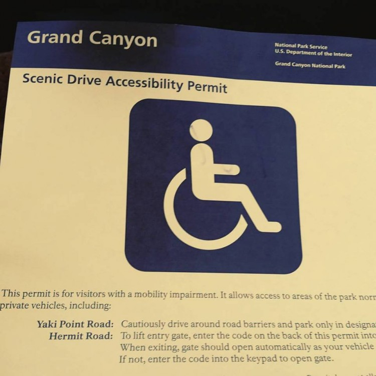 ADA information from the Grand Canyon.