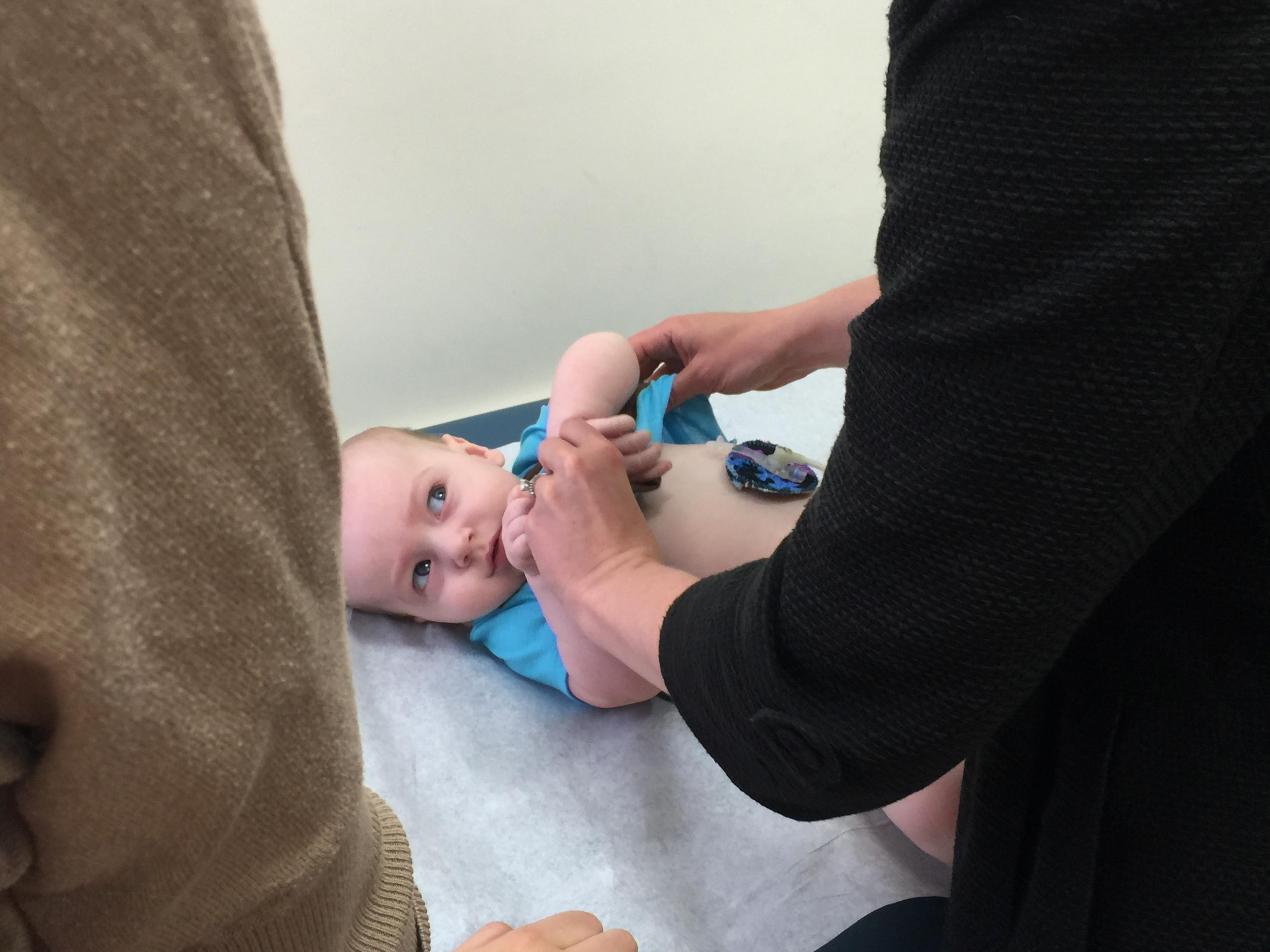 baby Visiting Neurology at Boston Children's