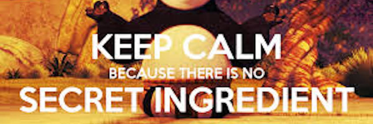 """""""keep calm because there is no secret ingredient"""""""