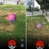 split screen of pokemon go from a wheelchair