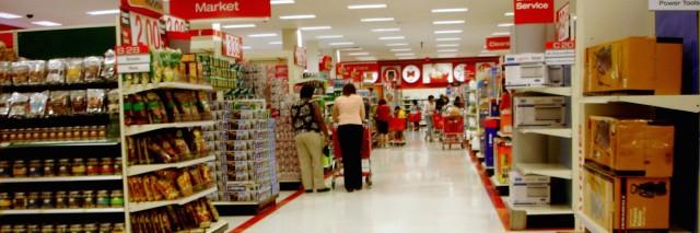 Interior of Target store