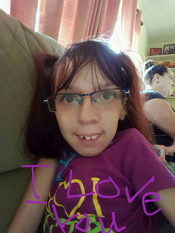 """Ruthie's daughter, on the photo it is written """"I love you"""""""