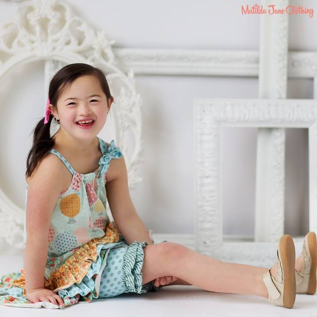 Older girl modeling Matilda Jane outfit