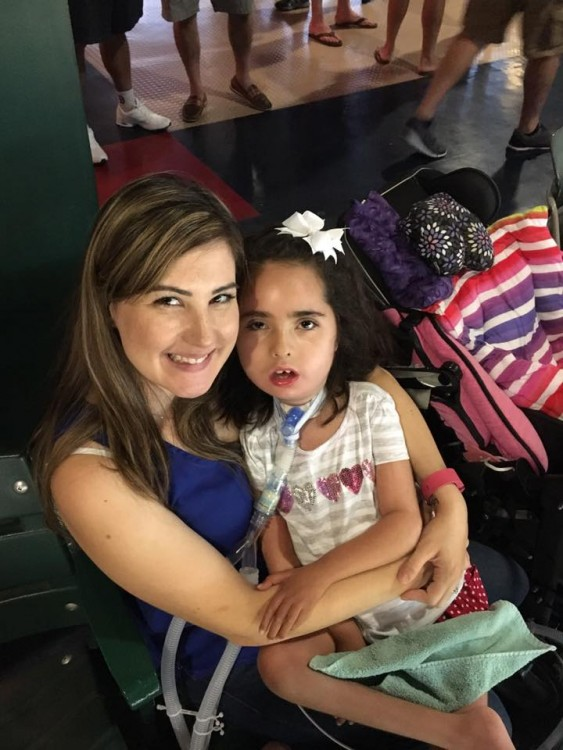 Shellie with her daughter who has SMA