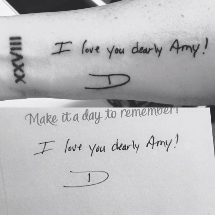 Tattoo Reads I Love You Dearly