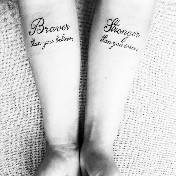 Tattoo Reads Braver Than You Think Stronger Seem
