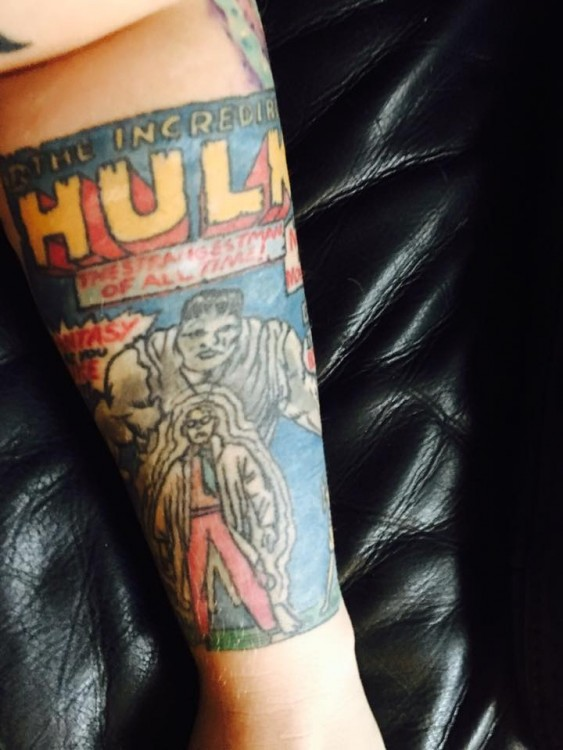 tattoo on the hulk