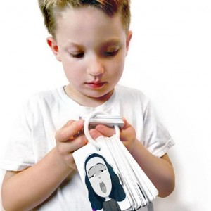 Child looking at Emotion Cards