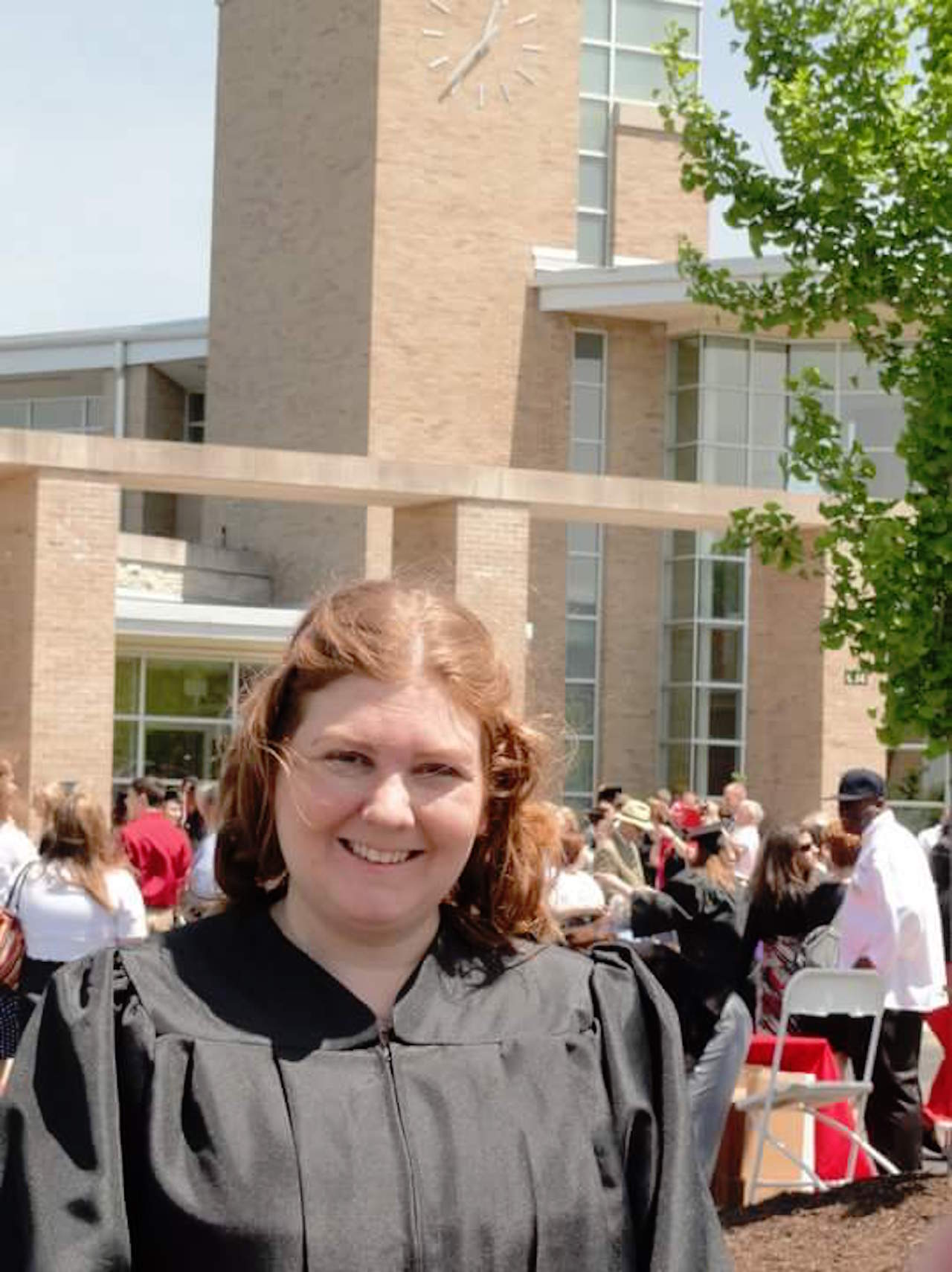 woman with a learning disability at graduation