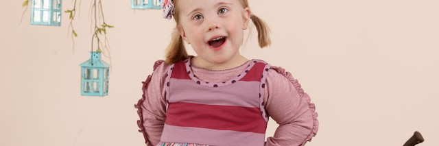 Matilda Jane Clothing model, young girl with pigtails