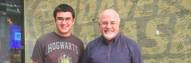 Penny Rogers' son, Logan, with Dave Ramsey