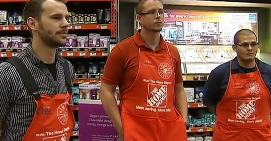 the three employees at home depot who helped build the walker