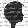 words written across a silhouette of a head