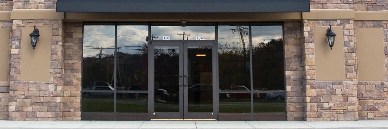 Store doors.