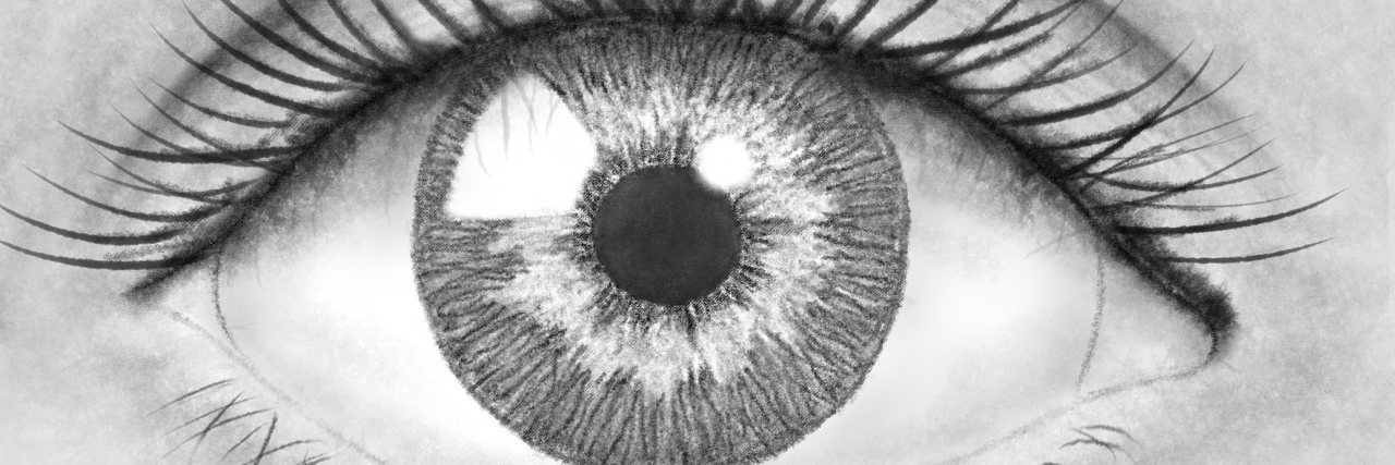 Beautiful pencil drawing eye