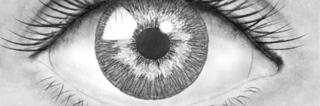 Beautiful pencil drawing eye