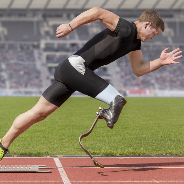 This image of a runner with a disability is not inspiration porn, but is similar to photos that are made so with the use of problematic captions such as 'what's your excuse?'